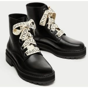 Zara lace boots